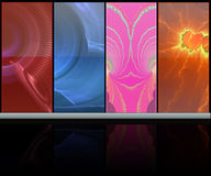 Abstract colorful media room Stock Photos