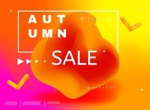 Abstract minimal background, autumn sale. Royalty Free Stock Photos