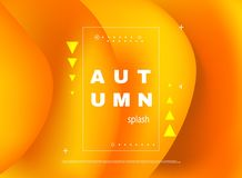 Abstract minimal background, autumn sale. Royalty Free Stock Photography