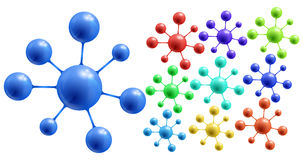 Abstract colorful molecules Royalty Free Stock Photos