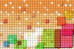 Abstract colorful mosaic background. Royalty Free Stock Photo