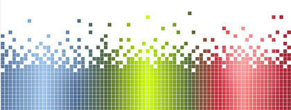 Abstract colorful mosaic banner, background Stock Images