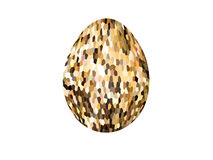 Abstract colorful mosaic of Easter eggs isolated on white background. Easter egg Royalty Free Stock Photography