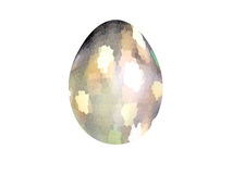 Abstract colorful mosaic of Easter eggs isolated on white background. Easter egg Royalty Free Stock Photo