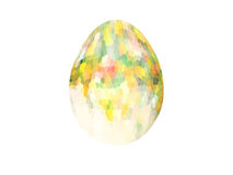 Abstract colorful mosaic of Easter eggs isolated on white background. Easter egg Royalty Free Stock Photos