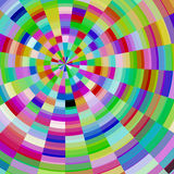 Abstract colorful mosaic glass circle Stock Photography