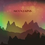 Abstract colorful Mountains Stock Photos