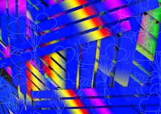 Abstract Colorful Multiple Effect Background Design Royalty Free Stock Photography