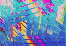 Abstract Colorful Multiple Effect Background Design Royalty Free Stock Images