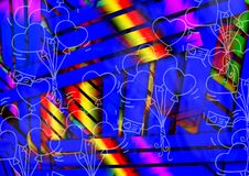 Abstract Colorful Multiple Effect Background Design Stock Photos