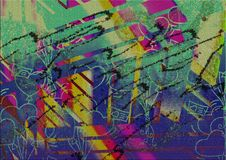 Abstract Colorful Multiple Effect Background Design Stock Photo