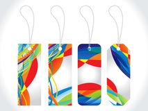 Abstract colorful multiple sale tag Stock Photo