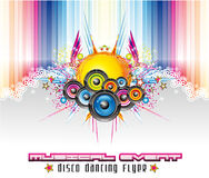 Abstract Colorful Music Background. Dance and Music Event Background for poster or flyers Royalty Free Stock Images
