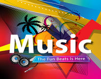 Abstract colorful music background Stock Photos