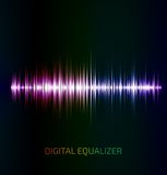 Abstract colorful music equalizer Royalty Free Stock Photos