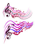 Abstract Colorful Music notes Royalty Free Stock Image
