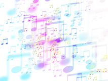 Abstract colorful music sign background Royalty Free Stock Photos