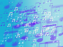 Abstract colorful music sign background Stock Photo