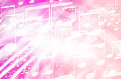 Abstract colorful music sign background Stock Photography