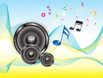 Abstract colorful music sound wave wallpaper. Vector illustration Stock Photography