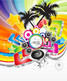 Abstract colorful musical background Stock Images