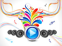 Abstract colorful musical background Royalty Free Stock Images