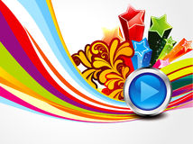 Abstract colorful musical background royalty free illustration