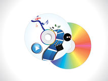 Abstract colorful musical cd cover template Royalty Free Stock Image