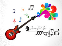Abstract colorful musical guitar background Stock Image