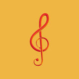 Abstract Colorful Musical Note Isolated On Color Background Royalty Free Stock Images