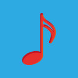 Abstract Colorful Musical Note Isolated On Color Background Royalty Free Stock Image