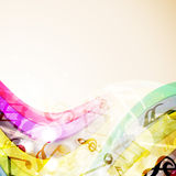 Abstract colorful musical notes. Stock Images