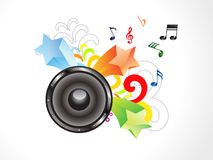 Abstract colorful musical sound Royalty Free Stock Photography
