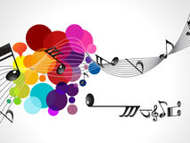 Abstract colorful musical wave Stock Photo