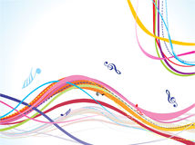 Abstract colorful musical wave background. Vector illustration vector illustration