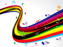 Abstract colorful musical wave background Stock Photo