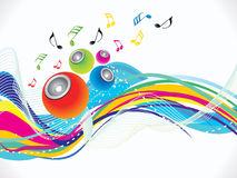 Abstract colorful musical wave background Royalty Free Stock Image