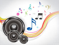 Abstract colorful musical wave with sound. Vector illustration Royalty Free Stock Images