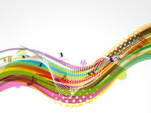 Abstract colorful musical wave Royalty Free Stock Photo
