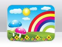 Abstract colorful nature background Royalty Free Stock Images