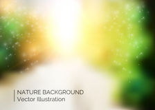 Abstract colorful nature background with blurred effect Stock Image