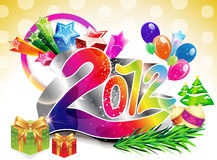 Abstract colorful new year background. Vector illustration Stock Illustration