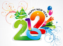 Abstract colorful new year background Stock Images