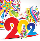 Abstract colorful new year explode background. Vector illustration Royalty Free Stock Image