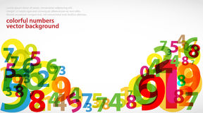 Abstract colorful Numbers. Vector background Stock Photography