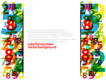 Abstract Colorful numbers Royalty Free Stock Image