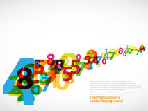 Abstract Colorful numbers. Colorful numbers with abstract background Royalty Free Stock Photos