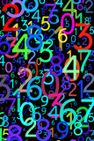 Abstract colorful numbers Royalty Free Stock Photo