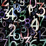 Abstract colorful numbers Stock Image