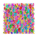 Abstract colorful numbers background. Colorful numbers background. Abstract design Royalty Free Stock Photo